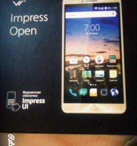 НОВЫЙ телефон Vertex Impress Open Золотистый