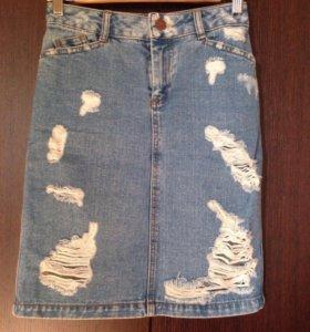 ASOS джинсовая юбка размер 34