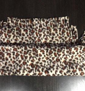 Леопардовый тёплый шарфик