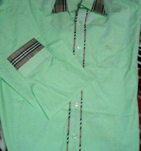 Новая рубашка burberry. Ворот 44