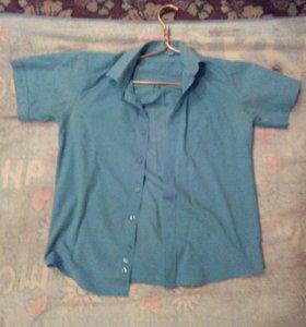 Рубашка школьная на мальчика 11-12 лет