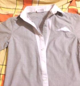 Рубашки школьные рост130-134