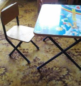 Детский стол и стул комплект