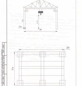 ангар 9х12 с кран балкой