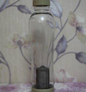 Бутылка для заваривания чая, стекло, 500 мл