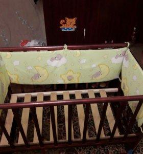 Детская кроватка качель