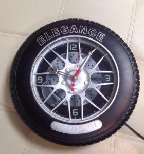 Часы настенные колесо автомобильное