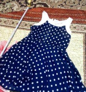 Платье летние в горошек