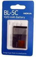 аккумуляторы Nokia BL-5C Li-Ion, 3,7 В, емк. 1020
