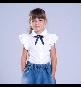 Новая школьная блузка 120-130 ростовка