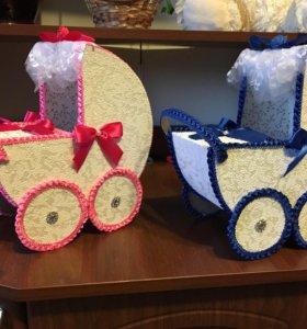 Колясочки на свадьбу на мальчика или девочку