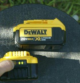 Аккумуляторы 18/20В Dewalt dcb204 на 4 Ампера