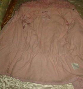 Детская зимняя куртка, размер 34-36.