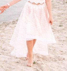 Костюм ,юбка со шлейфом и топ