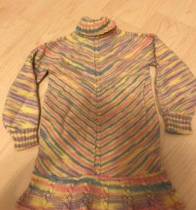 Платье свитер из натуральной шерсти