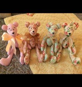 Интерьерные игрушки мишка тильда
