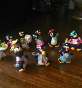 Пингвины из киндр сюрпризов