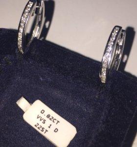 Серьги. Белое золото бриллианты.
