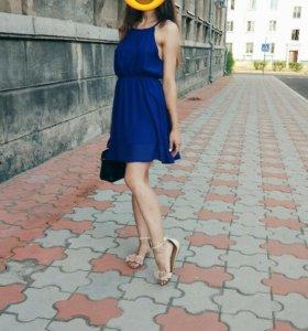 Платье синего цвета + 🎁