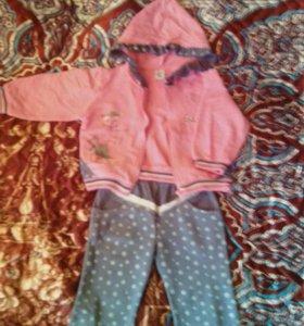 Стильный костюм на девочку 2-х лет