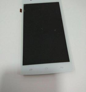 Дисплей Fly FS501(Nimbus3)+тачскрин белый