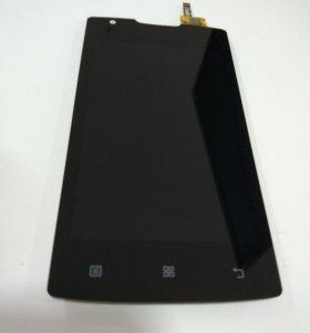 Дисплей Lenovo A1000+тачскрин черный