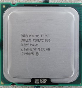 Процессоры Core 2 Duo LGA775 + кулер