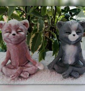 """Мыло ручной работы """"кот медитирует"""""""