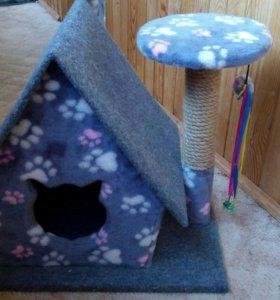 Домик для кошки с когтеточкой