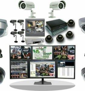 Видеонаблюдение, охранная сигнализация, домофон