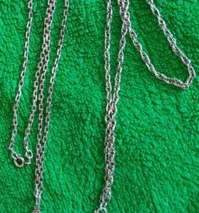 Серебрянные цепочки с подвесками