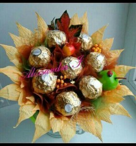 Букеты из конфет 1сентября