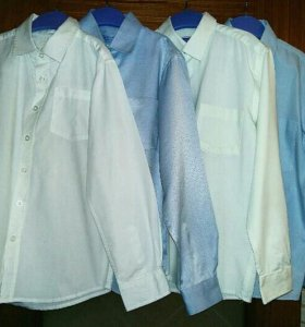 4 Рубашки детские школьные