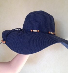Шляпа темно-синяя новая