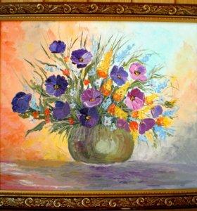 """Продам картину маслом """"Букет из ярких цветов"""""""