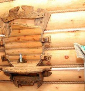 Зеркала из дерева под старену
