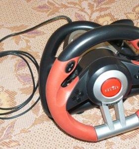 Игровой руль с педалями Oklick W-2