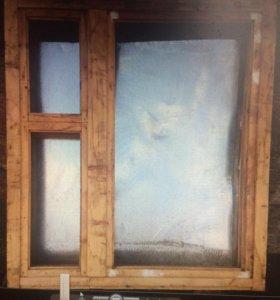 Новые деревянные оконные блоки