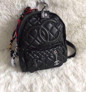 chanel женский кожаный рюкзак шанель сумка кожа