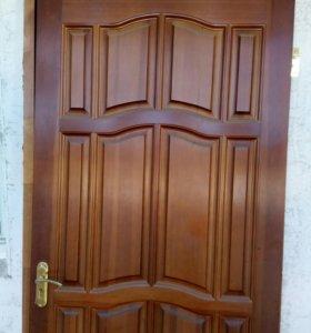 Дверь входная деревяная,служила второй после метал