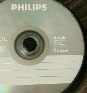 Диски для записи DVD+R DL 8,5 Gb Болванка