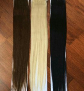 Волосы для наращивания на ленте.