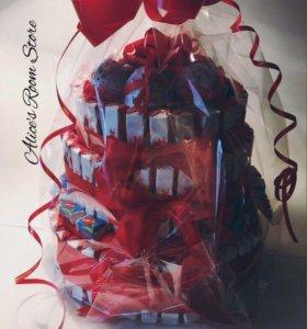 Многоярусные торты из киндер шоколада
