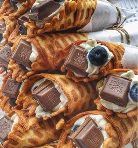 Вкуснейшие вафельные трубочки с кремчизом