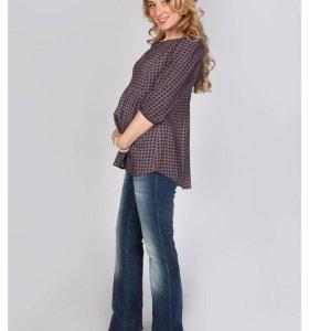 Блуза с отрезной кокеткой, Мамуля красотуля