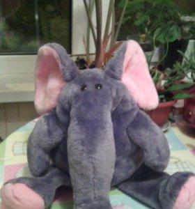 Игрушка Слон с розовыми ушами