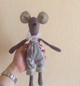 Мышонок тильда игрушка