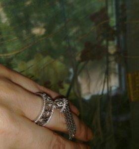 Кольцо серебро италия