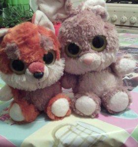 Игрушки Зайчик и Лисичка