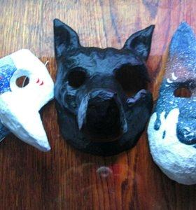 Карнавальная маска: Чёрный лабрадор